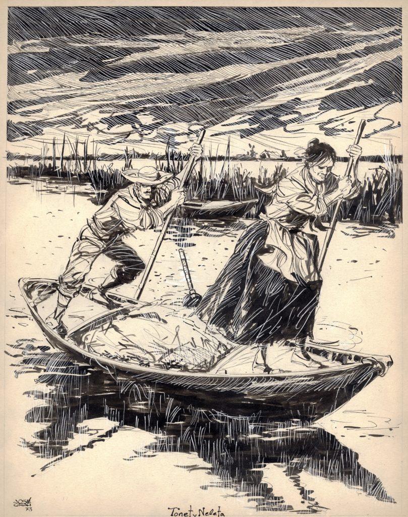 Ilustración José Grau. Tonet i neleta 1973